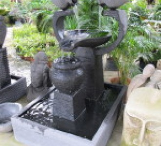 Small fish pond courtyard fountain fountain design trading for Pond shade ideas