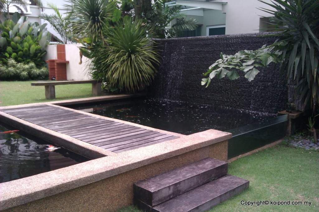 Fish pond design fountain design trading for Above ground koi pond design ideas