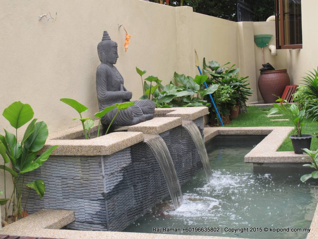 Fish pond design fountain design trading for Garden pond design plans