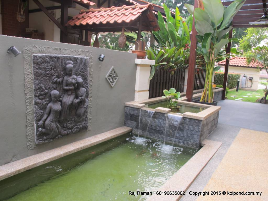 Fish pond design fountain design trading for Pond features and fountains